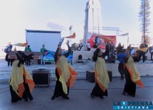 Parte de las danzas que se realizaron.