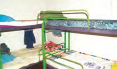 Parte del mobiliario que se encuentra en el Centro de Rehabilitación.